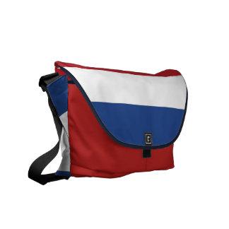 Niederländische Flaggen-Rickshaw-Bote-Tasche Kurier Taschen