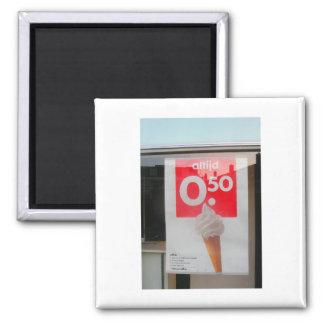 Niederländische Fotografie .50 Euro-Eistüte Quadratischer Magnet