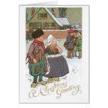 Niederländische Kinder - ein Weihnachtsgruß Karten