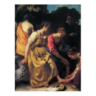 Niederländische Künstler Vermeer Malerei Postkarte