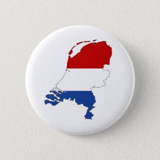 niederländische Landesflaggekarten-Formholländer Runder Button 5,7 Cm
