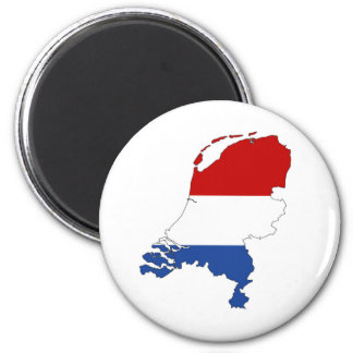 niederländische Landesflaggekarten-Formholländer Runder Magnet 5,1 Cm