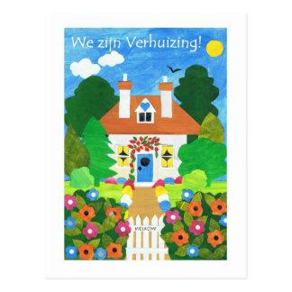 Niederländische neue Adressen-Mitteilungs-Postkart