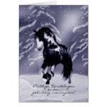 Niederländische Pferdeweihnachtskarte - Prettige Karten