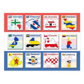 Niederländische Provinzen Postkarte
