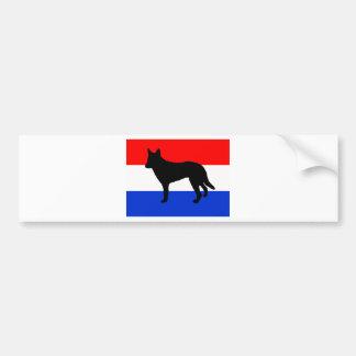 niederländische Schäfer-Silhouetteflagge Autoaufkleber