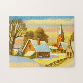 Niederländische Schneeszene Puzzle