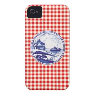 Niederländische traditionelle blaue Fliese Case-Mate iPhone 4 Hüllen