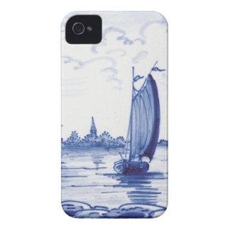 Niederländische traditionelle blaue Fliese iPhone 4 Hüllen