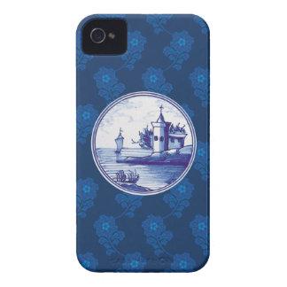 Niederländische traditionelle blaue Fliese Case-Mate iPhone 4 Hülle