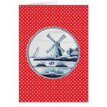 Niederländische traditionelle blaue Fliese Grußkarte