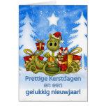 Niederländische Weihnachtskarte - niedlicher Karte