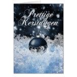 Niederländische Weihnachtskarte - Prettige