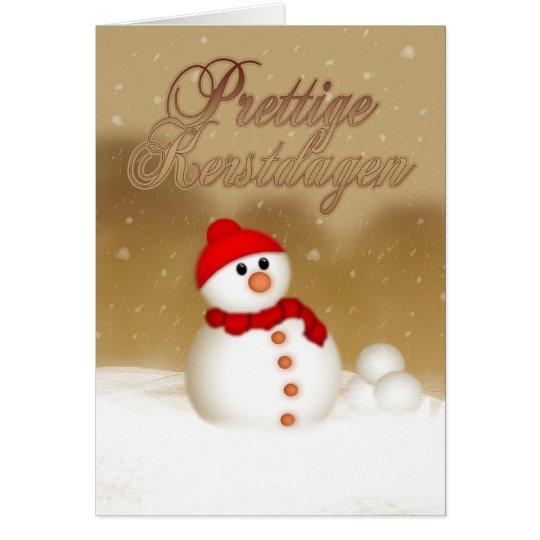 Niederländische Weihnachtskarte - Prettige Grußkarte