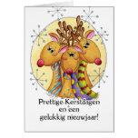 Niederländische Weihnachtskarte - Ren - Prettige Karte