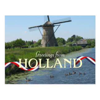 Niederländische Windmühle duckt Postkarte