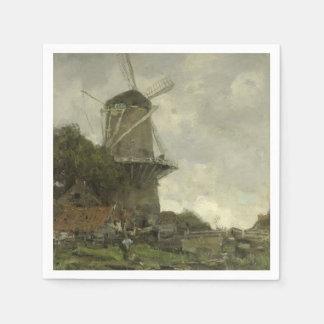 Niederländische Windmühle, Jakob Maris Papierservietten