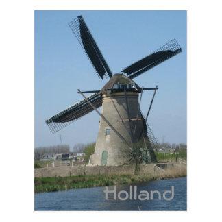 Niederländische Windmühle Postkarte