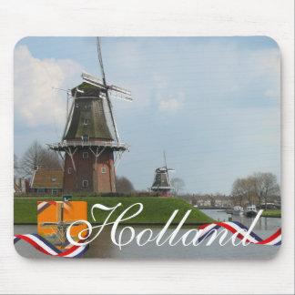 Niederländische Windmühlen-Holland-Text-Andenken Mousepads