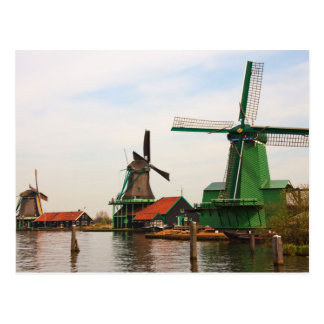 Niederländische Windmühlen, Zaanse Schans. Postkarte