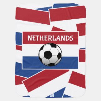 Niederländischer Flaggen-Fußball Babydecke
