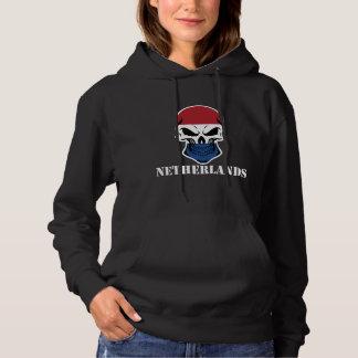 Niederländischer Flaggen-Schädel die Niederlande Hoodie