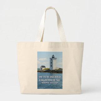 Niederländischer Insel-Leuchtturm, Rhode Island Jumbo Stoffbeutel