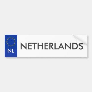 Niederländischer KFZ-Zulassungsschein Aufkleber Autoaufkleber