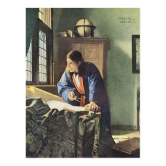 Niederländischer Künstler Vermeer, der den Postkarte