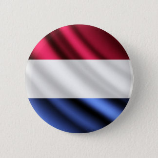 Niederländischer wellenartig bewegender Flagge Runder Button 5,7 Cm