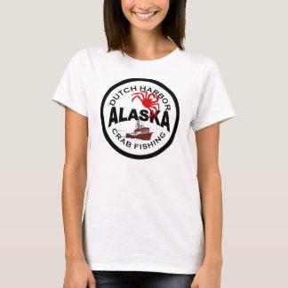 Niederländisches Hafen-Krabben-Fischen T-Shirt