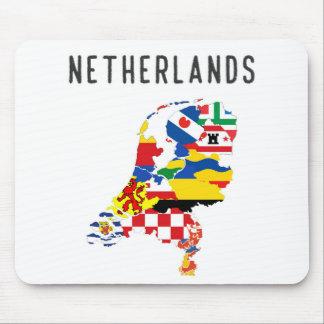 Niederländisches Landregionsprovinzflaggen-Karte Mauspad