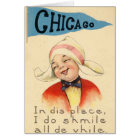 Niederländisches Mädchen, das in Chicago 1917 Karte