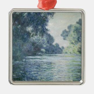 Niederlassung Claude Monets | der Seines nahe Quadratisches Silberfarbenes Ornament