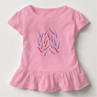 Niederlassungs-Kleinkind-Rüsche-T - Shirt