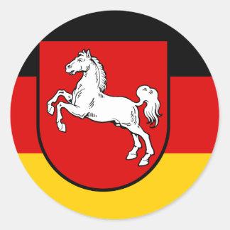 Niedersachsen Deutschland Runder Sticker