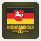 Niedersachsen-Stolz Quadratischer Aufkleber