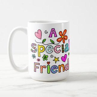 Niedlich ein spezieller Freund-Gruß-Text-Ausdruck Kaffeetasse
