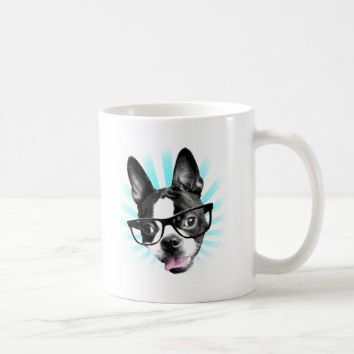 Niedlich! Hipster-Boston-Terrier Tee Tasse
