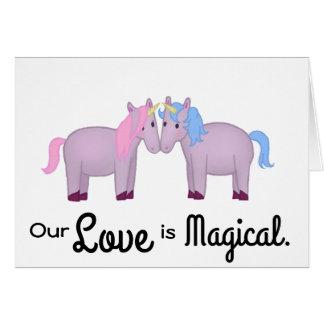 Niedlich ist unsere Liebe magisch, Unicorn-Paare Karte