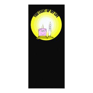 Niedlich leuchten Sie meinen Leben-Kerzen 10,2 X 23,5 Cm Einladungskarte