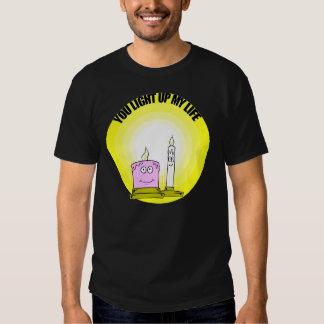 Niedlich leuchten Sie meinen Leben-Kerzen T-shirt