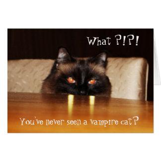 Niedlich, lustig, Vampirekatze Karte