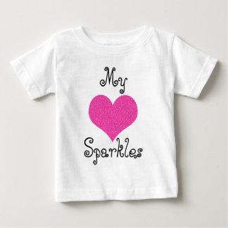 niedlich mein Herz-Glitzern-Babyt-shirt Baby T-shirt