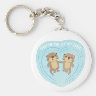 Niedlich mein Otter-halber Schlüsselanhänger