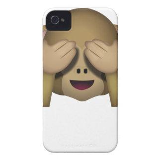 Niedlich sehen Sie keinen schlechten Affen Emoji iPhone 4 Case-Mate Hüllen