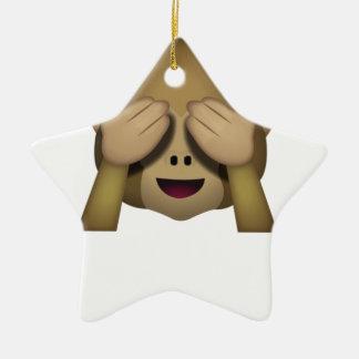 Niedlich sehen Sie keinen schlechten Affen Emoji Keramik Ornament