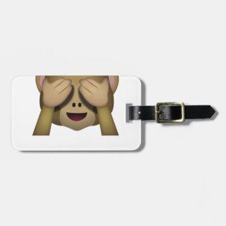 Niedlich sehen Sie keinen schlechten Affen Emoji Kofferanhänger