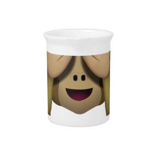 Niedlich sehen Sie keinen schlechten Affen Emoji Krug