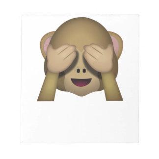 Niedlich sehen Sie keinen schlechten Affen Emoji Notizblock